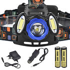 15000LM CREE 3x T6 LED Headlamp Rechargeable 18650 Headlight Head Torch Lamp UK