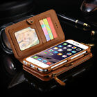 Luxury Genuine Leather Flip Wallet Phone Case Cover for iPhone 6 6S 7 / 7 Plus