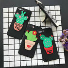 3D Fashion Cute Cactus Stand Soft Matte Back Case Cover for iPhone 6/6S/7/ Plus