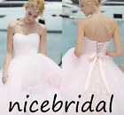 Pink Strapless Quinceanera Dress Ball Gown Formal Prom Gowns Homecoming Dresses