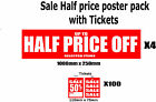 SaleSigns saleposters includes 100 tickets packs  you choose