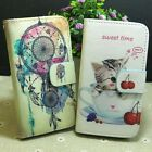 Dream Catcher Lovely Cat Wallet Pouch Stander flip case cover for LG Phone