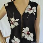 Affordable Office Wear NEW White Poppy Top Womens Top Size 10 12 14 16