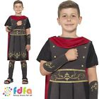 BLACK ROMAN SOLDIER CAESAR HISTORICAL Age 4-12 Boys Childs Fancy Dress Costume