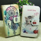 Dream Catcher Cute Cat Wallet Pouch Stander flip case cover for HTC Phone