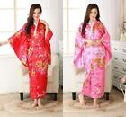 Japanese Kimono Vintage Yukata Haori Women's Costume Gown Oriental New Dress Obi