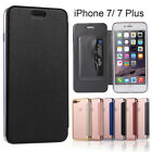 Luxury Slim Book Leather Skin + TPU Wallet Flip Cover Case For iPhone 7 & 7 Plus