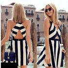 Women Striped Dress Robe Tunique Summer Dress Ropa Mujer Roupas Feminina Vestido