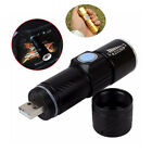 Mini 400LM CREE Q5 Flashlight LED 3 Modes USB Charge Zoomable Lamp Torch Light