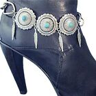 Turquoise Concho's Boot Bracelet Bling Chain Jewelry Western Feathers Fashion