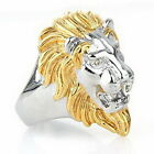 Lion head Carved Animals Jangle Bikers Men's Ring Classic Collection Capitan