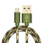 1m 2m Nylon Micro USB FAST Data Sync Charging Cable Cord for Android Phone US