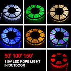 50' 100' 150' LED Rope Light 110V Home Party Christmas Decorative In/Outdoor New