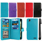 For ZTE Warp Elite Z9518 Flip Magnetic Card Holder Wallet Cover Case + Pen