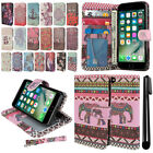 "For Apple iPhone 7 4.7"" Flip Wallet LEATHER Skin POUCH Case Phone Cover + Pen"