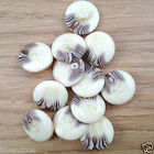 5 x arran cream/brown jumper cardigan buttons shank on back 15mm 19mm & 23mm