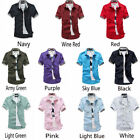 Hot Mens Casual Dress Shirt Mens Fashion Classic Short Sleeve Shirts Top