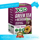 X50 GREEN TEA TRIBECA HEALTH 30 SERVES WEIGHT LOSS + FREE SHAKER & BROCCOLI CHIP