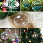 5X Baubles Transparent Fillable Decoration Christmas Tree Ball Ornaments Set LA