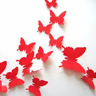 1 Set 3D Three-dimensional Cute Simulation Butterfly Wall Stickers Poster