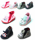 Infants Childrens Kids Boys Girls Bootie Cute  Soft Dog Puppy Slippers Sizes New