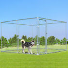 Fences Exercise Pens - Large Pet Dog Run House Kennel Shade Cage 10 X 10 Roof Cover Backyard Playpen