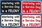 1 INTERFERING WITH A SERVICE DOG IS A FELONY PATCH 2.5X4 Danny & LuAnns Embroide
