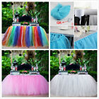 US 100*80CM TULLE TUTU TABLE SKIRT FOR WEDDING PARTY BABY SHOWER NEW YEAR DECOR