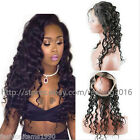 Water Wave 100% 8A Brazilian Human Hair 360 Lace Frontal Closure Pre Plucked