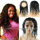 8A 100% Indian Remy Human Hair 360 Lace Frontal Closure Natural Wave Pre Plucked