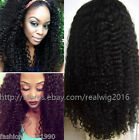 Kinky Curly 100% Indian Human Hair Full Lace Wigs /Lace Front Wigs 180% density