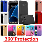 Hybrid 360° Full Hard Case Cover + Tempered Glass For Samsung Galaxy Smart Phone