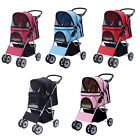 four wheel - Four Wheel Pet Stroller Cat & Dog Folding Cart Carrier Jogger Travel 5 Color New