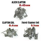 10pcs /box Alien Twisted Clapton Premade Coil Heating Wires For RDA RBA Tank Hot