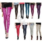 Women Vintage Celeb Velvet Leggings Jeggings Fit Stretch Pants Trousers YBVQ1001