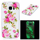 Luminous fluorescent Soft TPU Phone Case Cover for Samsung Galaxy S5 S6 S7 Edge