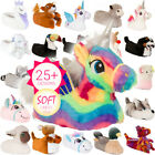 Kyпить New Womens Girls Novelty 3D Character Plush Unicorn Animal Slippers Ladies UK3-8 на еВаy.соm