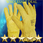 1, 10 Pairs Driver Gloves Soft Leather Safety Lorry Drivers Work Glove gauntlet