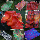 "1 pair 1.8m*0.9m (70""x35"") light sturdy tie-dye belly dance silk fan veil+bag"