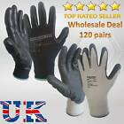 120 PAIRS NITRILE SAFETY PALM COATED WORK GLOVES MECHANICAL CONSTRUCTION BUILDER