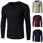 New Mens Casual Long Sleeve Slim Fit  Warm Knitted Sweater Jumper Tops Outwear