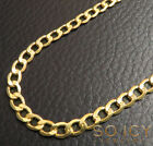 """18-26"""" 4.5mm 10k Yellow REAL Gold Miami Cuban Curb Lite Chain Necklace Mens"""