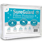 Zippered Pillow Protector Cases Cotton Encasement Hypoallergenic Cover Set of 2