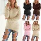 ISASSY Womens Long Sleeve Sweater Ladies Sweatshirt Jumper Pullover Tops Blouse