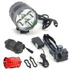 13000LM 5x Cree T6 LED Head Front Bicycle Light Bike Lamp Torch Headlamp+Battery
