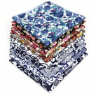 25CM Men's Cotton Handkerchief Print Flower Floral Pocket Square Wedding Hanky