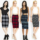 Fashion Vintage Bohemia Women Printed High Waist Slim Package Hip Pencil Skirt