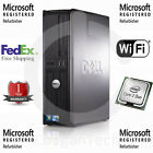 Dell  Windows 7 Pro WIFI 2.4GHZ 4GB RAM 80GB SFF Desktop PC Office Computer Fast