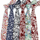 12 Style Men's Paisley Flower Cotton Neck Tie 6 CM Wedding Banquet Necktie Ties
