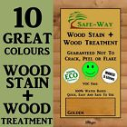 WOODSTAIN  *PLUS*  WOOD TREATMENT - STAIN AND TREAT YOUR DECKING FENCE SHED DYE